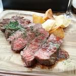 ダブリュー ヨコハマ - ランチセット:牛肉ステーキ