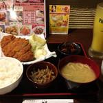 68251195 - とんかつ定食+オレンジジュース