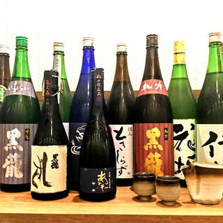 「黒龍」「梵」など福井の日本酒を取り揃えております