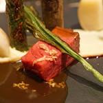 レストラン 間 - 肉料理 黒毛和牛 山形牛の塩釜焼き 山葵の香り