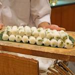麻布 幸村 - うすい豆のご飯