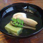 日本料理 梅林 - あさりとヨモギ豆腐