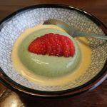 日本料理 梅林 - 抹茶のプリン