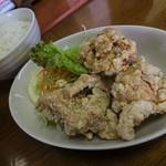 浜ちゃんぽん - 「唐揚げ定食」の唐揚げは大きいのが3個。これまた超~ウマイ!