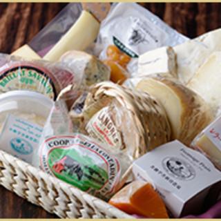 豊富なチーズの品揃え