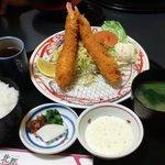 金沢なごみ亭 北都 - エビフライ定食1320円