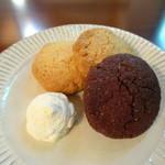 ブルー コーヒー - スコーンクッキー( チョコは試作品です。)