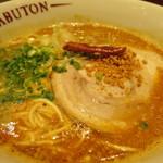ちゃぶ屋 とんこつ らぁ麺 CHABUTON - ちゃぶとんバリ辛味噌らぁ麺(バリカタ)アップ
