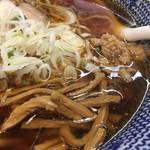 麺屋福丸 - メンマ、ネギ、鴨そぼろ