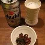 麺通 - 缶ビール 400円