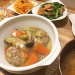 木月キッチン - 鶏つくね野菜あんかけ