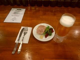 PIZZERIA BACI - 【2017.6.8(木)】①鴨の蒸煮+生ビール