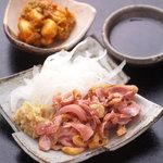 まるん - 宮崎県地鶏のたたき&岐阜からおとりよせ、人気のみそにんにく
