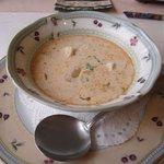 欧風懐石 勝 - スープは魚介の美味しいスープ、伝統料理をベースにシェフのアレンジと技をミックスさせた料理が続きます。