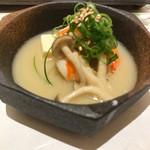 赤坂 鮨葵 - 海老ときのこの京味噌仕立て