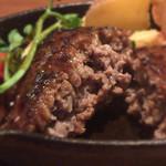 お肉とチーズ Beer STA New Nagoya - 鉄板ハンバーグ(デミグラス)