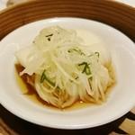 68273281 - イカの葱、生姜セイロ蒸し