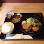 綾綺殿 - トンカツ&ミンチカツ定食  ¥1200