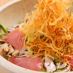 鮨 花吉 - 地元野菜と海産物の饗宴!『花吉海鮮サラダ』(3〜4人前)
