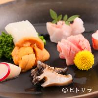 鮨 花吉 - 宝石のような『刺身盛り合わせ』に舌鼓