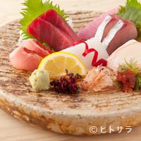 本等鮨 海馬 - お造り五種盛り