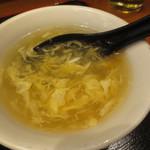 蘭苑菜館 - 卵スープ