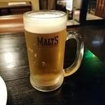 赤いトマト - 生ビール !!