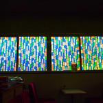 食事処 魚屋の台所 - レトロな窓ガラス!