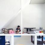 ピッツェリア グランデ - 2階の小上がり。絵本・おもちゃ・ベビーチェアーあり。