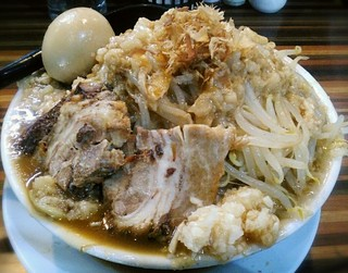 ラーメンつけ麺 笑福 大阪西中島店 - 【ラーメン 並盛 + 味玉】¥680 + ¥100