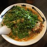 カラシビ味噌らー麺 鬼金棒 - パクチーカラシビ味噌らー麺 カラさ少なめ シビれ 普通