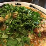 カラシビ味噌らー麺 鬼金棒 - パクチーカラシビ味噌らー麺 カラさ少なめ シビれ普通