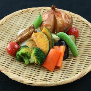 京野菜ならではの季節の一品を、相性の良い日本酒と合わせて