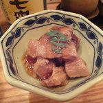 小石川 かとう - 本日のお通し(マグロの煮付け)