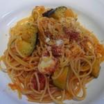 イタリアンダイニング バンキーナ - 茄子とモッツアレチーズトマトパスタ