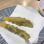 魚漁 - みょうが天ぷら