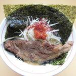 谷村パーキングエリア(上り) フードコート - 柔らか軟骨ネギ味噌ラーメン 800円