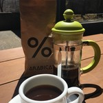 ヤマアラシ - ドリンク写真:コーヒー(フレンチプレス)