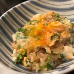 稲・もつ鍋焼肉 - ネギじゃなく、ニラを使用してるのが良い感じ。