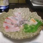 居肴屋 風来坊 - 縞鯛の薄作り