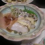 居肴屋 風来坊 - 蛸、林檎、生ハムのカルパッチョ