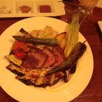il cocco - 炭火野菜とお肉の盛り合わせ