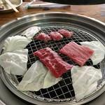 肉のオカヤマ直売所 - 焼肉スタート(*´∀`)♪