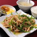 中華料理 水の音 - 靑椒肉絲ランチ