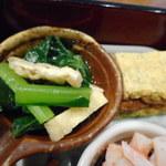 旬菜‐小豆 - 青菜ひたし、玉子焼き