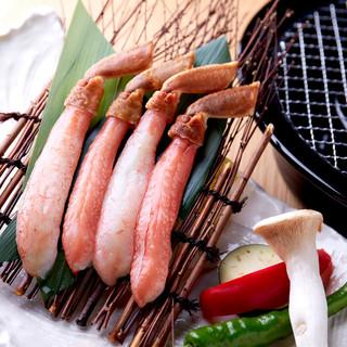 人気の生タラバガニ&ズワイガニをはじめ、高級食材が目白押し◎