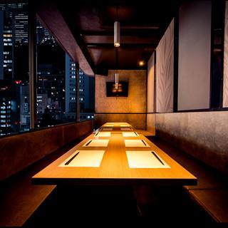 ■全200席の広々完全個室多数ご用意■夜景の見える個室も♪