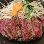 鉄板TOKYO - ランチ イチボのステーキ  ミディアムレア