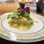 欧風バル・マザン - 豚ヒレ肉とレンズ豆のカレー風味(980円)