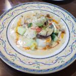 欧風バル・マザン - 帆立貝のソテー クリームソース(1300円)